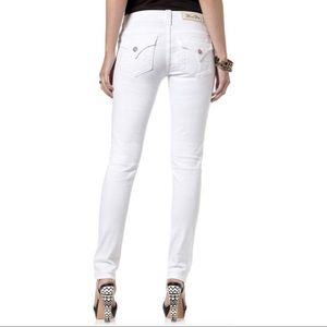 Miss Me White Mid Rise Skinny Jeans, 30